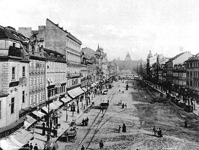 Wenceslas Square at the end of 19th century / {{PD-US}}
