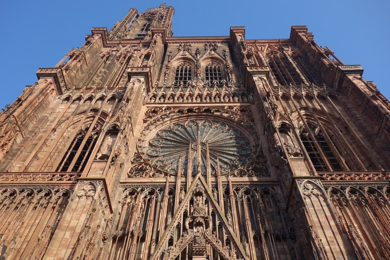The imposing facade of Strasbourg Cathedral@Sylvia Edwards Davis