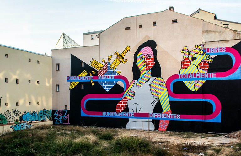 A wall of street art in Madrid | © El Rey de la Ruina/Cool Tour Spain