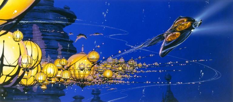 Doug Chiang, STAR WARS™: Episode I The Phantom Menace.Production painting | © & ™ 2014 Lucasfilm Ltd.