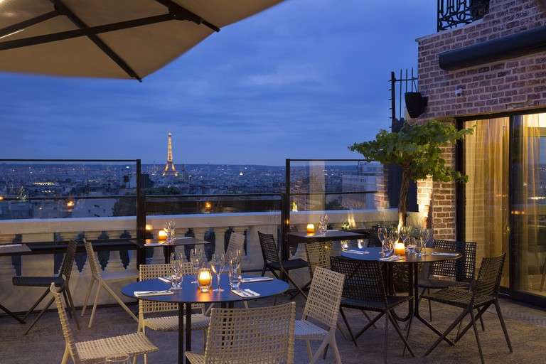 The rooftop bar at Terrass │© Christophe Bielsa, Courtesy of Terrass'' Hôtel Montmartre