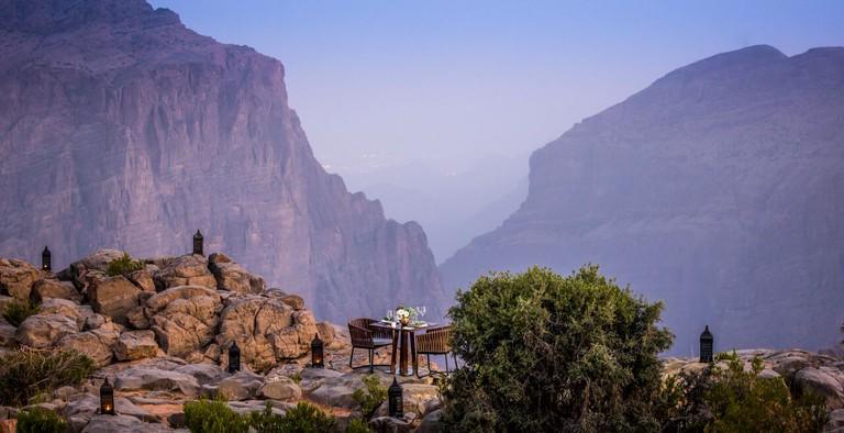 Meal with a view at Anantara Jabal Akhdar