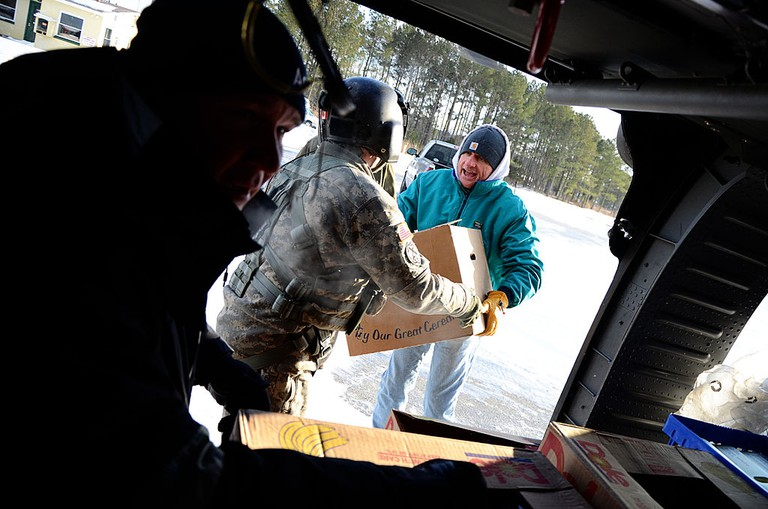 Virginia Guard aviators deliver supplies to iced-in Tangier Island | Public Domain/WikiCommons