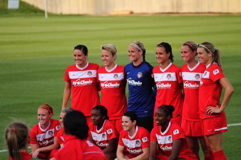Washington Spirit players show their team spirit   © Sandra Luna/ Flickr/