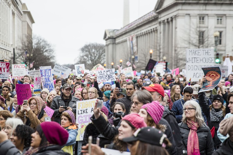 The protest streamed past the White House and cover streets in D.C. | ©Amanda Suarez/Culture Trip
