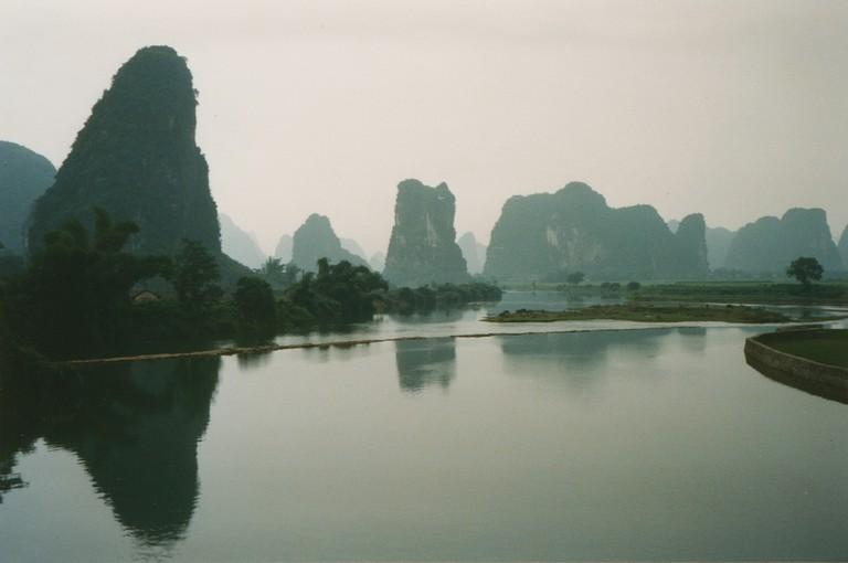 Yangshuo is a coach trip away