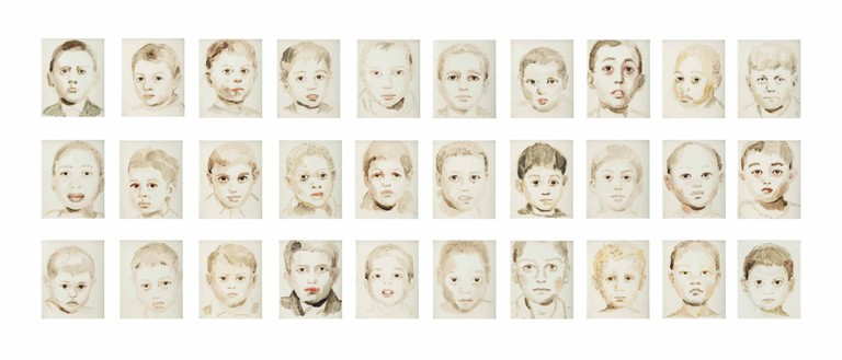 Annie Kevans' series of 30 oil paintings on paper (2004). Estimate: £18,000-25,000 © Christie's Images Limited 2017