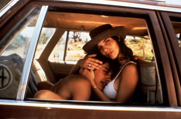 Y Tu Mamá También (2001 Mexico) Directed by Alfonso Cuarón Shown from left: García Bernal (as Julio Zapata), Maribel Verdú (as Luisa Cortés)