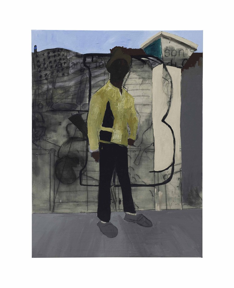 """Henry Taylor. """"The Young, the Brave, Bobby Hutton"""" R.I.P. Oakland, California (2007). Estimate: $35,000-45,000 © Christie's Images Limited 2017"""