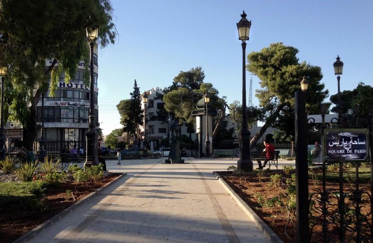 Retour au square de Paris sur la colline de Weibdeh où se trouve notre appartement. © Samuel Lahu