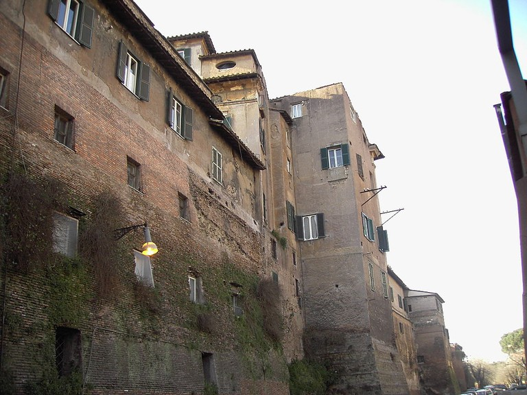 Modern apartments in the city walls