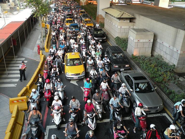 Motorcycles in Taipei | © Koika / Wikimedia