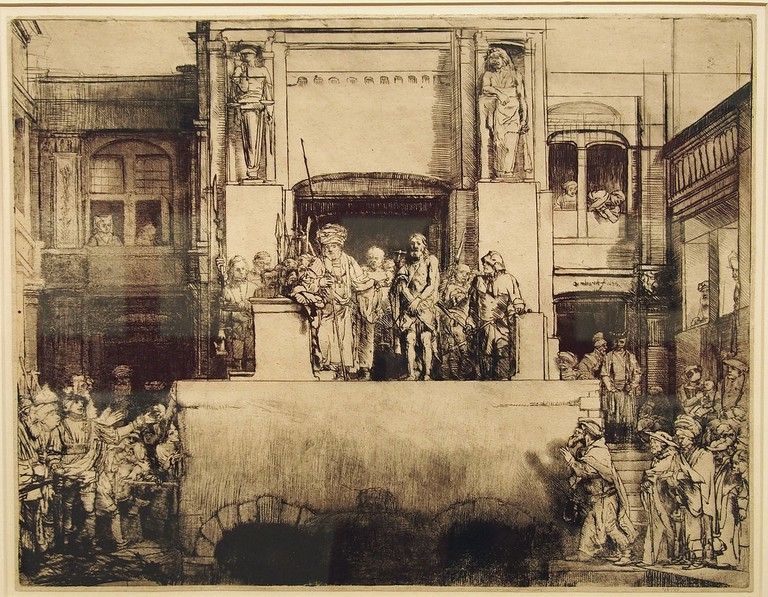 Christ Presented to the People (1655) by Rembrandt - an etching that is part of Rembrandt House Museum's collection