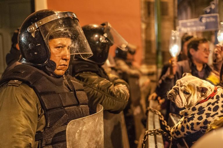 Bolivian riot police | © Eneas De Troya