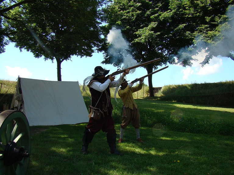 A historical reenactment in Bourtange | © Arch / WikiCommons