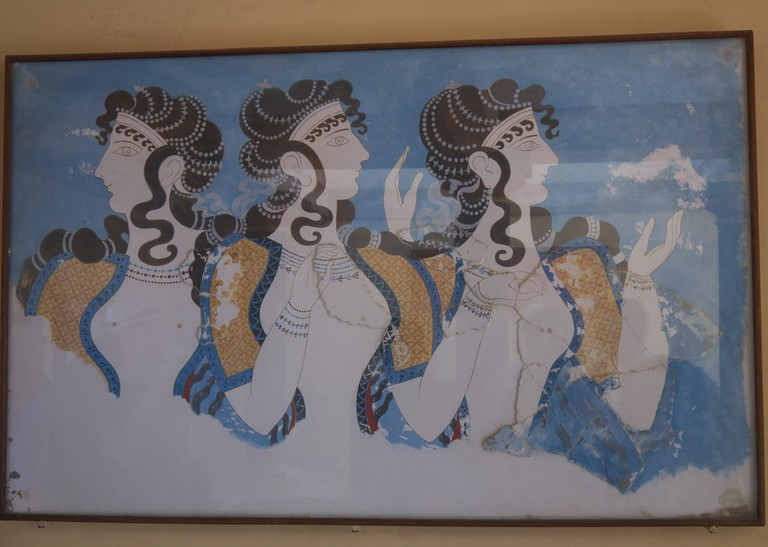 Copy of a fresco based on tiny fragments of original in Knossos | © Tim Schofield/ Flickr