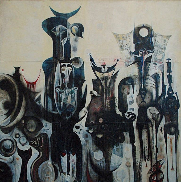 Reborn sounds of childhood Dreams I, Ibrahim El-Salahi, 1961-1965. Courtesy of Gautier Poupeau/Flickr
