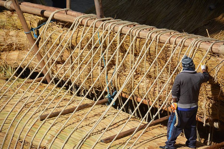 Constructing the boat   © Phil Buck