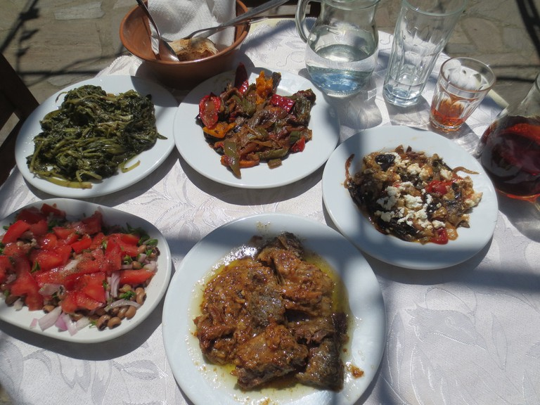 Amazing food made from the finest fresh, natural ingredients, at Popi's, Ikaria
