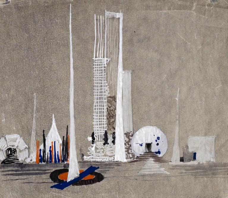 Ivan Leonidov, <em>United Nations Building</em>, 1947-48 | © Tchoban Foundation