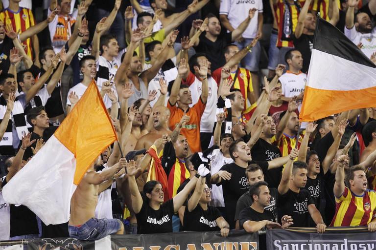 Valencia FC fans at the Mestalla stadium. Photo courtesy of Valencia Tourism