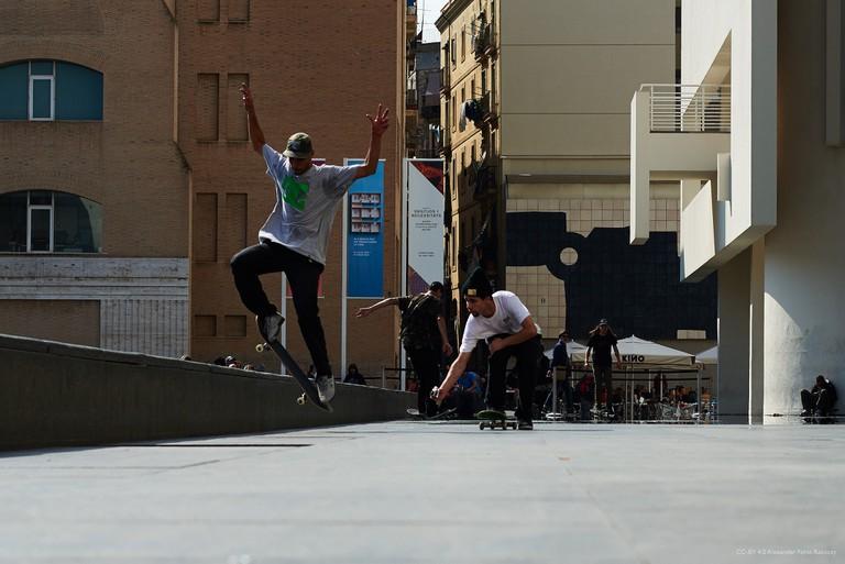 Skaters in the Raval © Alexander Forst-Rakoczy