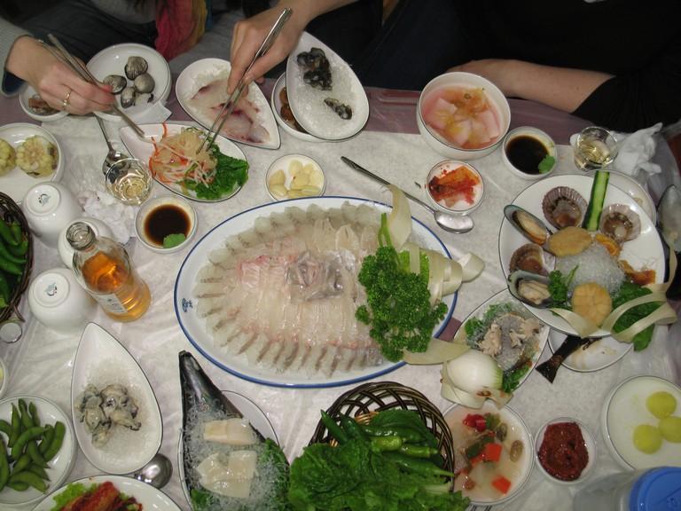 Saengseon hwe, raw fish | © Gaël Chardon / Flickr