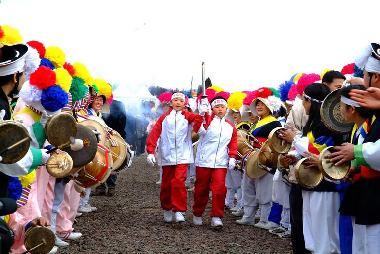 Cultural programs at the Jeju Fire Festival | © Jeju Tourism Organization