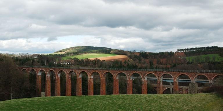 Leaderfoot Viaduct, Borders Railway   © Magnus Hagdorn/Flickr