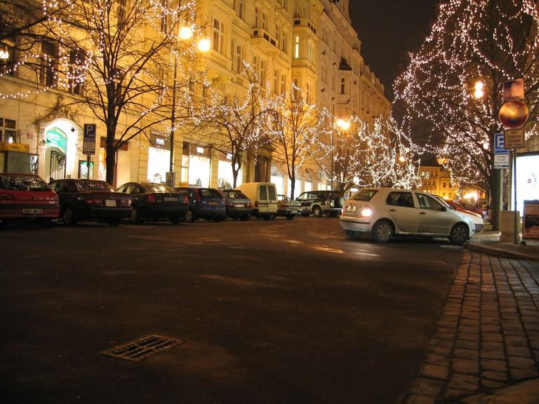 Pařížská Street around Christmas time