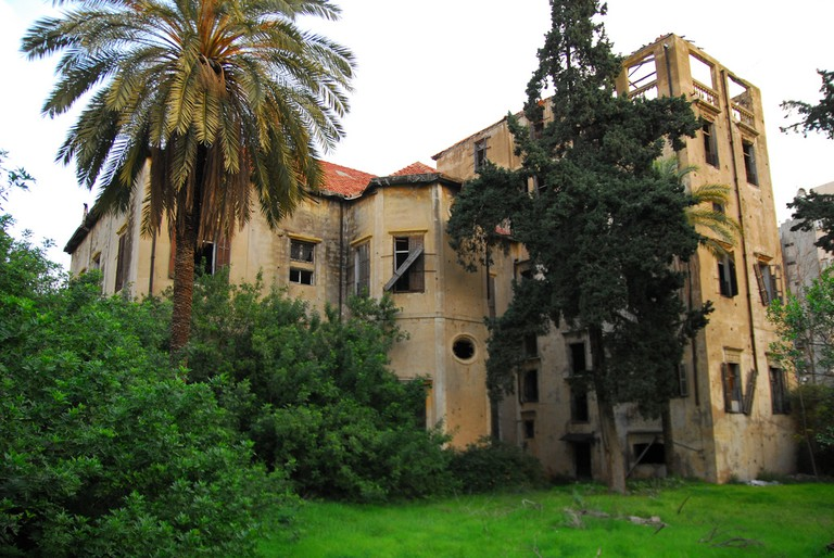 An abandoned mansion, Beirut