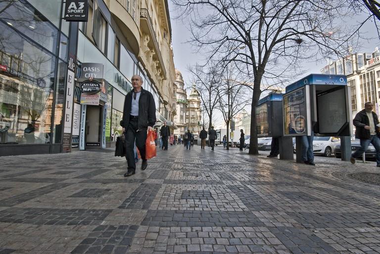 Wenceslas Square shopping street   ©János Szüdi / Flickr