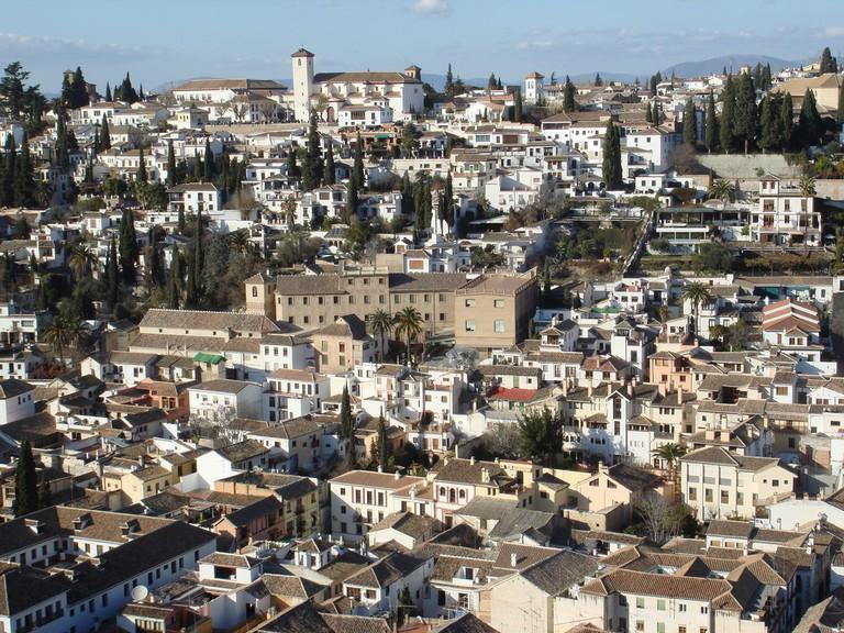 Albaicín, Granda´s old Arabic quarter, as seen from the Alhambra; Teacher Traveler, flickr