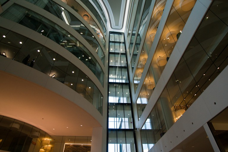 The atrium at Kings Place