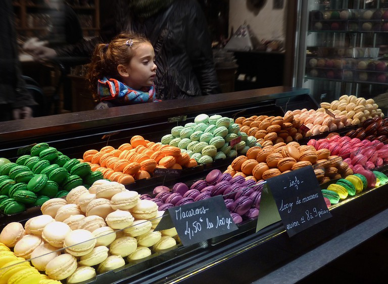 Even the presentation of macarons is an art form