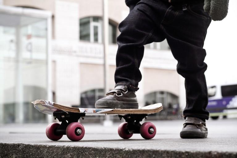Skater outside MACBA © Marcus Mailov