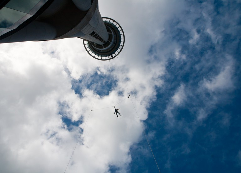 Bungy jumper at the Sky Tower