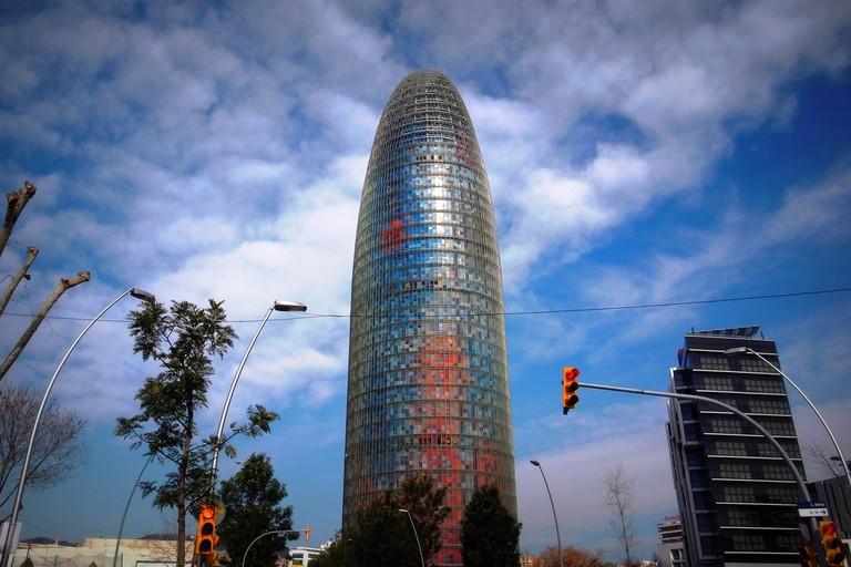 The Torre Agbar in Poblenou © Almusaiti