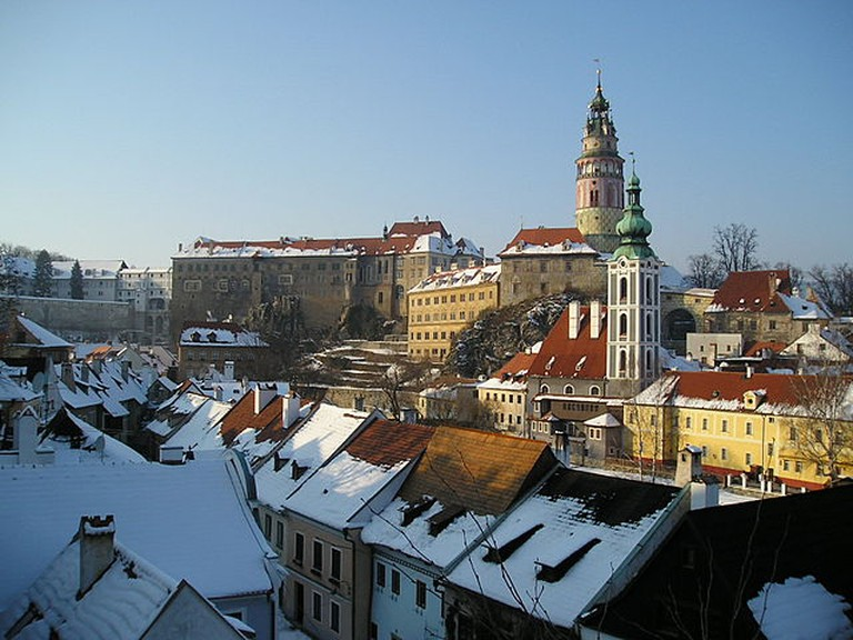 There's a special magic in a snowy Cesky Krumlov / ©Asahiko / Wikimedia Commons