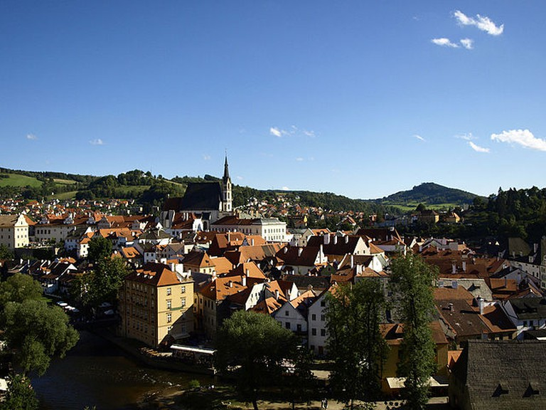 View from the hills of Český Krumlov / ©Marjolein Knuit / Wikimedia Commons