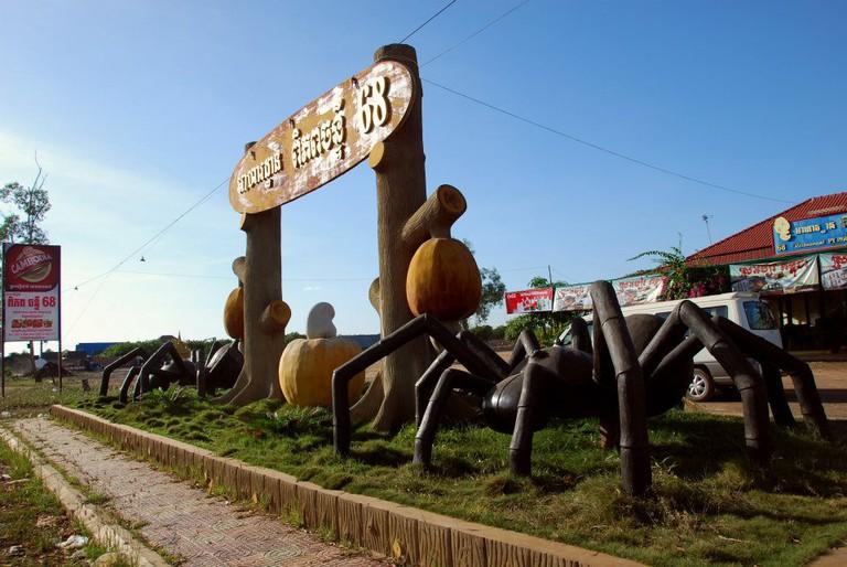 Skoun is the centre of Cambodia's tarantula business.