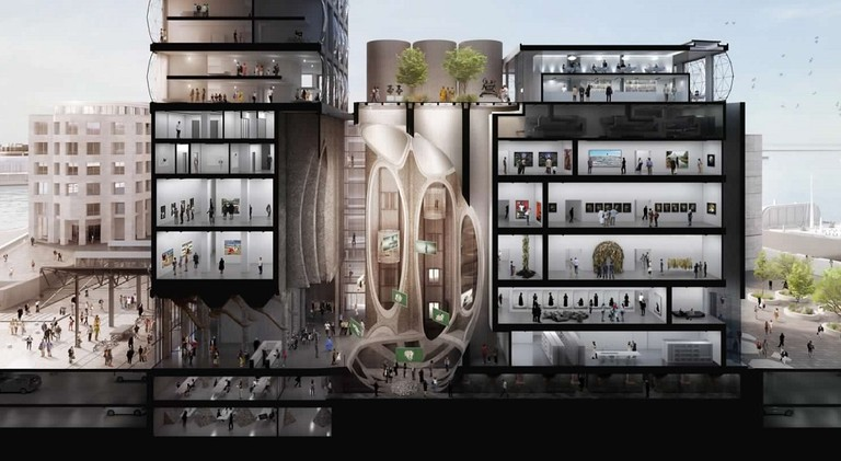 Architect's impression of the interior of Zeitz MOCAA