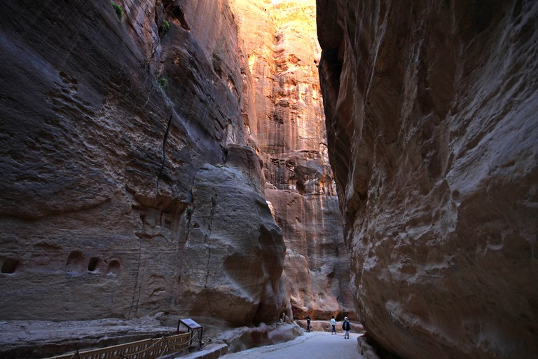 Along the Siq © Allan Grey