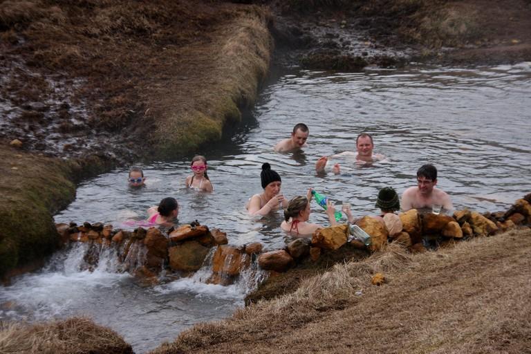 A natural hot spring in Reykjadalur| © El Coleccionista de Instantes / Flickr