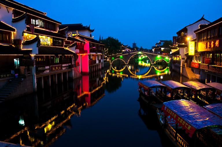 Qibao at Night   © Charles W Clark / Flickr