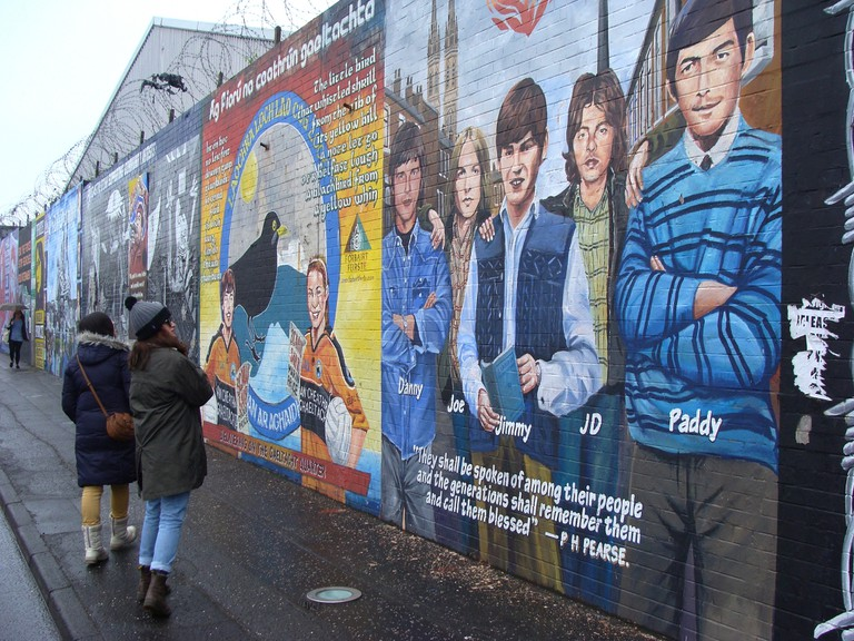 International Peace Wall on the Falls Road, West Belfast | © Nick/ Flickr
