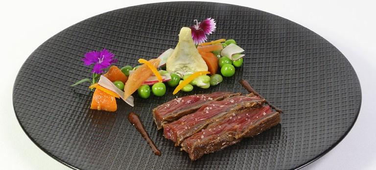 A plate from Chef Aymeric Dreux's Le Bouche à Oreille
