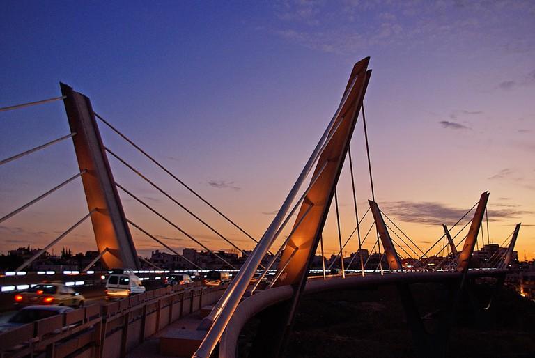 Wadi Abdoun Bridge, Amman © Anwar Nillufary