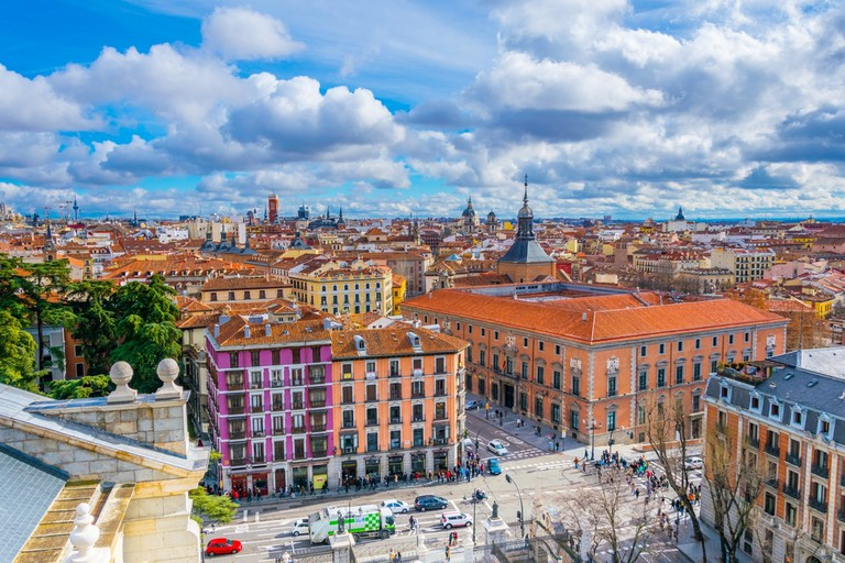 Aerial view of madrid taken from the top of the almudea cathedral in Madrid | © trabantos/Shutterstock