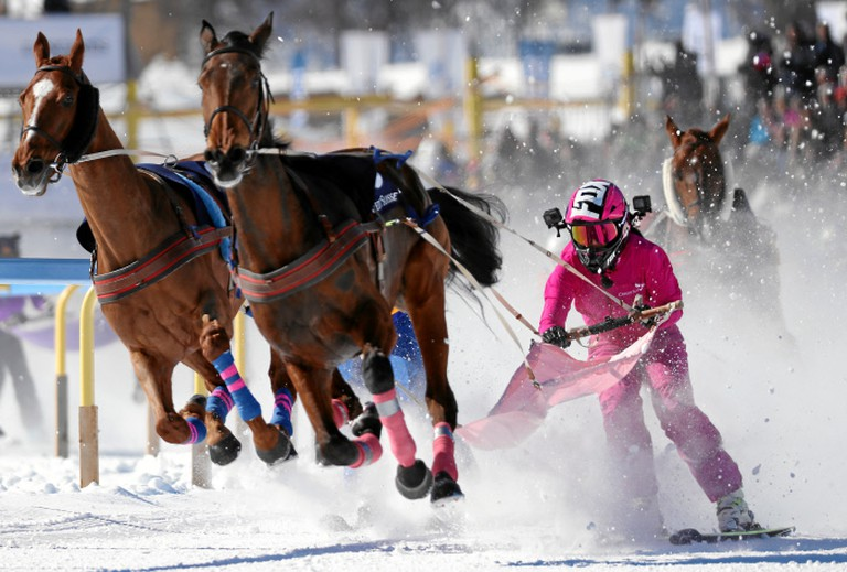 A race at 2017 White Turf   © swiss-image/AndyMettler